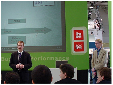 Christian and Andreas introducing PalOOCa at the CeBIT